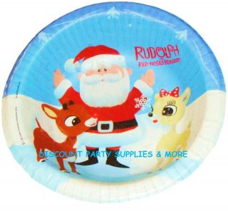 Rudolph The Reindeer Christmas Disposable Paper Bowls
