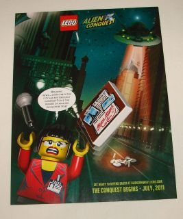 2011 Lego Alien Conquest Ad Page Breaking News