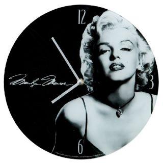 New Vandor 12 inch Glass Wall Clock Marilyn Monroe