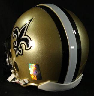 Drew Brees Signed Inscribed SB MVP Saints Mini Helmet Brees Hologram
