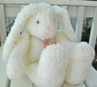 Boyds Collection White Bunny Rabbit Bears in The Attic