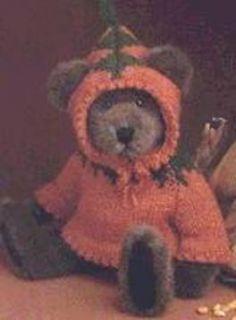 Mint Boyds Retired Pumpkin Patch Bear Fetchen P Patch
