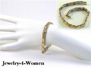 24K Magnetic Womens Health Hugs Kisses Bracelet