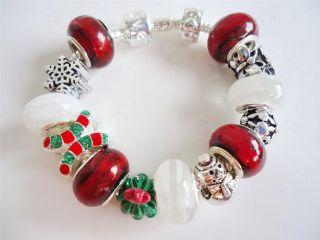Children European Style Charm Bracelet Christmas Charms S249