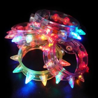 Soft Spiked LED Bracelet Rave Man Lights Burning Toy Clothing Wear