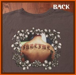 Sublime Hip Hop Punk Rock Bradley Nowell Back Tattoo Gray Medium Large