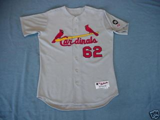 Brian Barden 2007 St Louis Cardinals Game Used Jersey