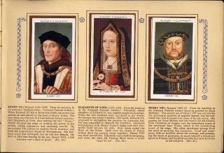 Tobacco Card Album & Cards,John Player,Royalty,KING & QUEEN Reign 1066
