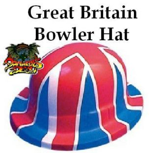 British Bowler Hat Union Jack Flag Rugby Great Britain