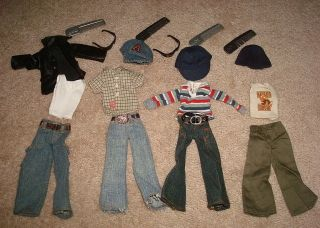 LOT OF BRATZ BOYZ DOLL CLOTHES BRATS BOY PANTS SHIRTS COAT JEAN