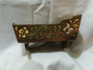 Vintage Brayton Laguna California Pottery Dutch Flower Cradle Planter