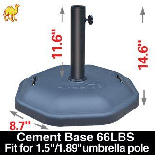 Angle Cement Central Pole Patio Umbrella Base Garden Deck Parasol