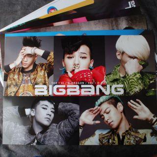 POP BIGBANG 12cut Posters Collection Bromide 2012 BIG BANG 12PCS