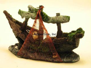Beautiful 7 Resin Medium Sunken Ship Decoration/ Ornament (SHIP FROM