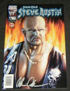 Stone Cold Steve Austin 1 Signed Pulido Comic Cover