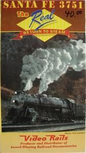VHS Video Santa FE 4 8 4 3751 The Real Return to Steam 12 27 1991
