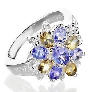Justine Simmons Purple Brown Tanzanite Ring Sz 8