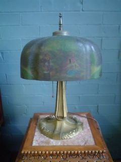 newly listed antique pittsburgh reverse painted desk lamp time left