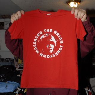 Brian Jonestown Massacre Red Band T Shirt Indie Psych Rock Iconic Logo