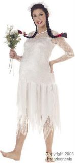 Adult Hillbilly Bride Funny Halloween Costume SM