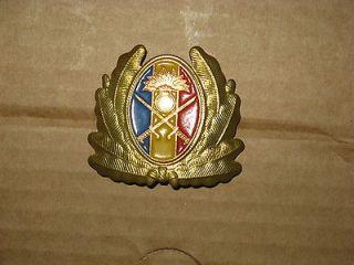 OLD Military CAP HAT PIN Romanian Communist Emblem Land Army Badge