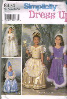 bride princess dress up Costume Pattern halloween sz 3 8 child