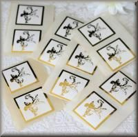 Foil Gold *ARCHER* Wedding Invitation Envelope Seals Stickers x 45
