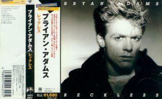 Bryan Adams Reckless Japan CD UICY 6507 OBI 1983 1984 A M RARE