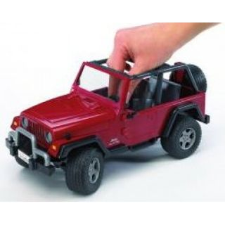 Bruder Jeep Wrangler Unlimited Metal Cars Kids Jeep Red Toy Jeep