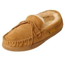 on a pair of (new) BRUMBY SHEARLING SUEDE MOC mens shoes. Brumby