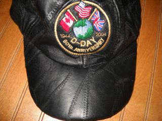 60th Anniversary Hat Ball Cap Black Leather Canada USA Brittain
