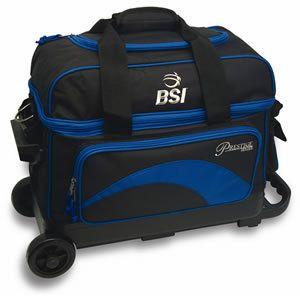 BSI Black Blue 2 Ball Roller Bowling Bag