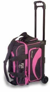 BSI Pink Black 2 Ball Roller Bowling Bag