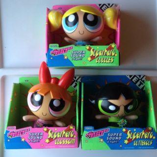 Light Powerpuff Girls Set of 3 Dolls Blossom Bubbles Buttercup