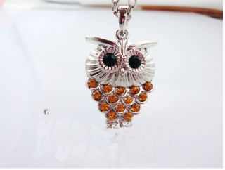 Hot New Fashion Vintage Stylejewelry Necklace Chain Silver Owl Pendant