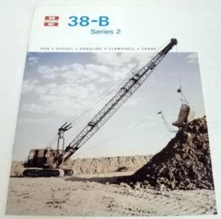 Bucyrus Erie 1981 38 B Series 2 Shovel Sales Brochure