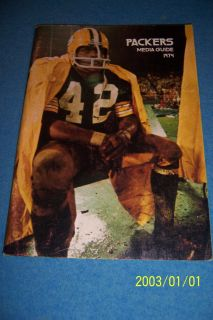 Bay Packers Official Press Book John Brockington