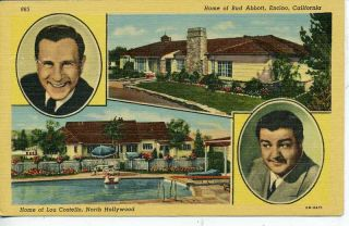 Encino Calif Bud Abbott Home Hollywood Lou Costello Res