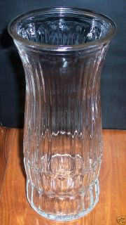 Vintage Vtg E O Brody Co Glass Vase Heavy Ribbed Beautiful Collectors