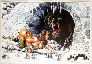Budd Root Cavewoman Snow 4 Super Sexy Special Limited Edition Cover