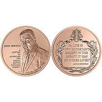 Jackie Robinson Bronze Medal US Mint Baseball MLB 42 Dodgers