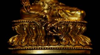 Tibetan Tibet Gilded Bronze Buddha Statue The Green Tara