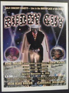 Buddy Guy John Mayall Original Blues Concert Poster Mississippi 1998