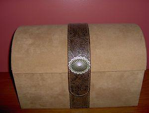 Lori Greiner Southwestern Style Trunk Jewelry Box
