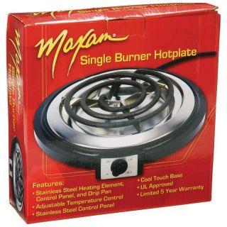 Electric Single Burner Hot Plate Buffet Range Cook Top Stove Drip Pan