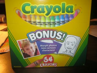 Brand New Box of Crayola Crayons 64 Pack with Built in Sharpener Bonus