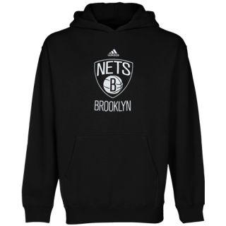 Adidas Brooklyn Nets Preschool Primary Logo Pullover Hoodie Black