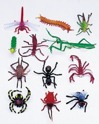 12 Toy Insects Bugs Educational Fake Boy Party Favors