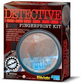 Fingerprint Kit Forensics Detective Police Crime Clues Science Project