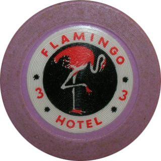1940s Flamingo Hotel Bugsy Siegel Las Vegas Casino Chip